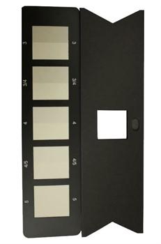 Серая шкала для оценки степени закрашивания. Стандарт  ИСО 105-А03-99 / Assessing Staining (Includes Assessment Mask) - фото 8288