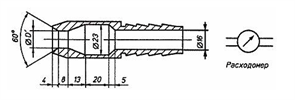 Устройство для проверки защиты от струй воды (брандспойт) МТ 445. ГОСТ 14254-96 (рис.6)