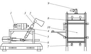 Стенд для испытаний многослойного стекла на стойкость к удару молотка и топора МТ 4104. ГОСТ 32564.2-2013 (ISO 16936-2:2005)