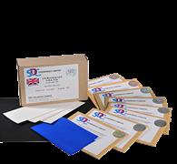 Синие шерстяные шкалы для оценки светостойкости ИСО 105 B / SDCE Blue Wools Humidity Test Materials ISO 105B