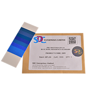 Синие шерстяные шкалы для оценки светостойкости ИСО 105 B, восемь номеров, размер 13х4,5 см / Pre-mounted LFS 1-8