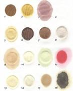 Ткань хлопок – Джерси (23х19 см) с 15 различными пятнами (3 см)/ Cotton jersey (23 x 19 cm) with 15 different stains (3 cm)